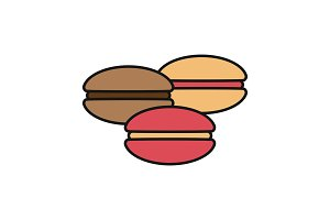 Macarons color icon