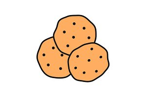 Chocolate chips color icon