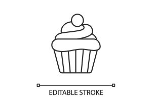 Cupcake linear icon