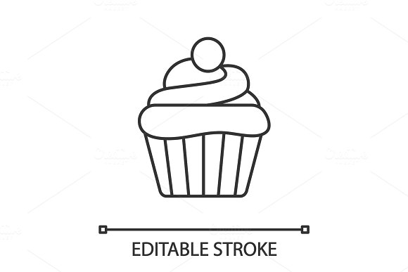 Cupcake Linear Icon