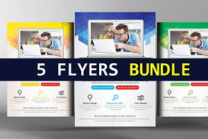 5 Modern Flyers Bundle Pack