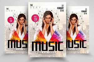 City Electro Flyer Templates