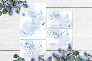 Doves Floral Geometric Frame Wedding