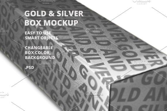 Gold Silver Box Mockup V2