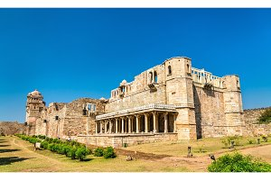 Rana Kumbha Palace, the oldest monument at Chittorgarh Fort - Rajastan, India