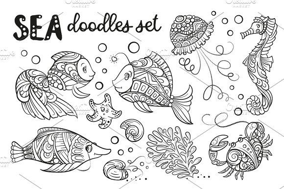 Sea Doodles Set