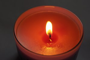 scented candle flame