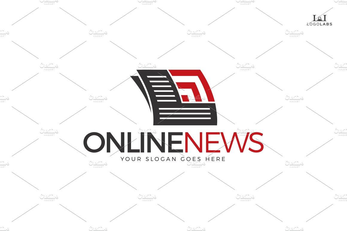 Online News Logo ~ Logo Templates ~ Creative Market