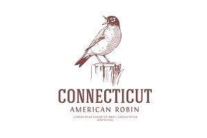 American Robin Vintage Logo