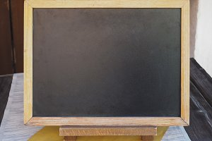 Blank blackboard with copy space
