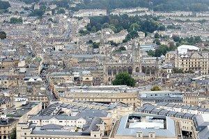Aerial view of Bath