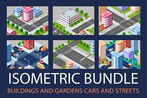 Isometric Bundle Buildings