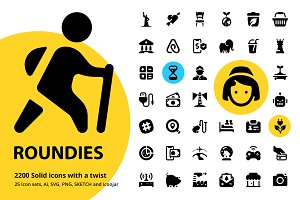 Roundies 2200 Solid Icons