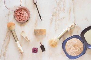 Makeup elements background