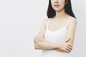 Asian woman face beauty