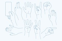 vector set Hands Icons