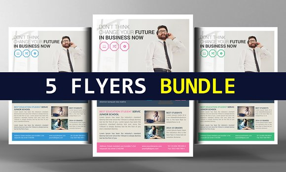5 Modern Flyers Bundle Pack