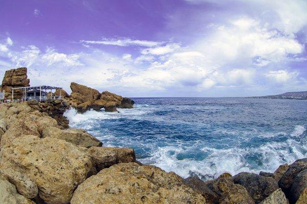 Coastline with waves