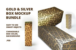 Gold & Silver Box Mockup Bundle