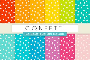 Colourful Confetti Digital Paper
