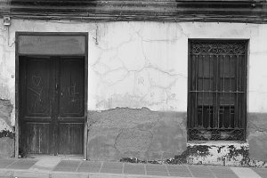 Rustic Facade House Black and White