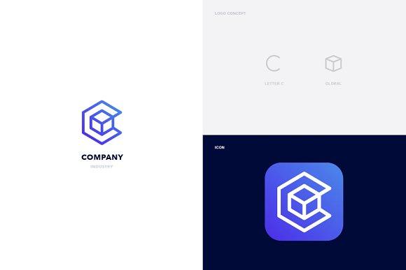 Global Letter C Logo Template