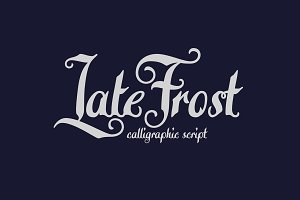 Late Frost font