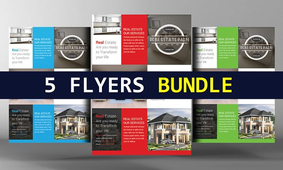 5 Business Promotion Flyers Bundle