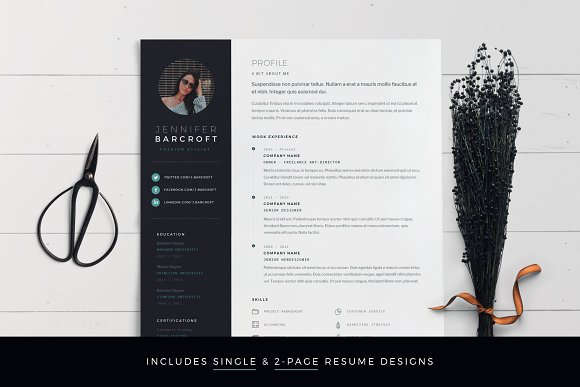 Resume Template 6-Page Pack For Word