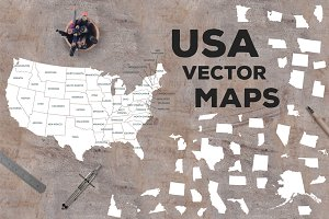 USA vector maps