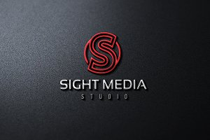 Sight Media S Letter Logo