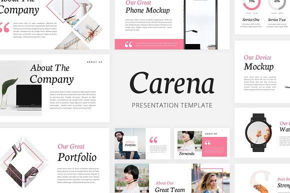 Carena Lookbook Google Slides