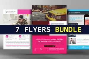 7 Business Analyst Flyers Bundle