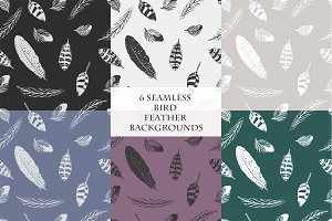 seamless bird feather backgrounds