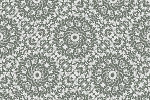 Grey Ornate Decorative Pattern