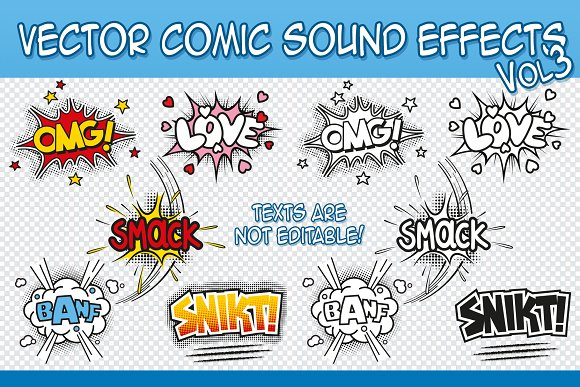 Vector Comic Sound Effects Vol.2