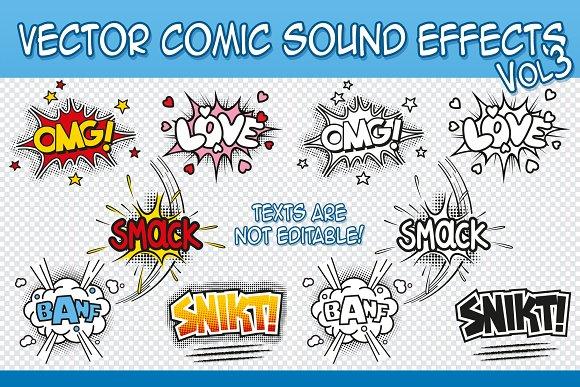 vector comic sound effects vol 2 illustrations creative market