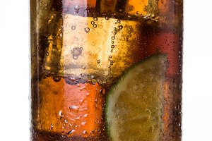 Cuba libre cocktail.
