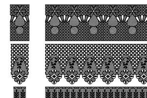 Lace & Lace Borders Vectors/Clipart