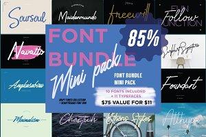 Font Bundle | Mini Pack $11