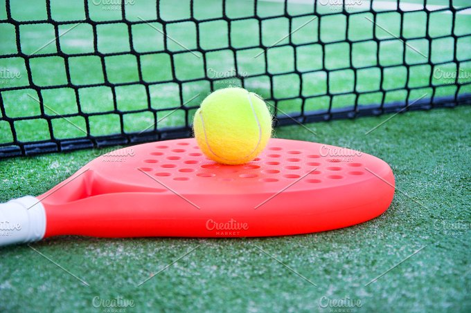 paddle tennis racket and ball - Sports