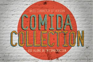 Comida Funky Layered Font Collection