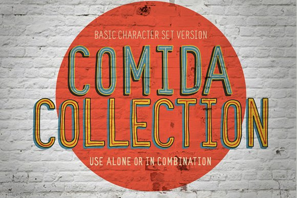 Comida Funky 4 Font Collection