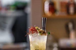 Lime and kiwi cocktail