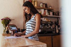 Woman entrepreneur standing