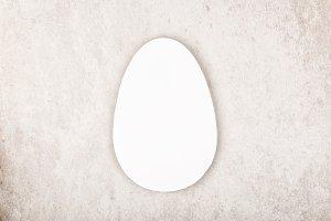 White paper egg