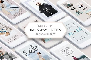 Clean & Modern Instagram Stories