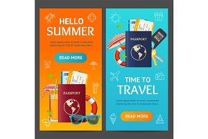Summer Travel and Tourism Banner