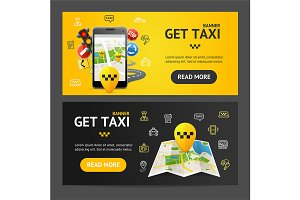 Get Taxi Service Banner
