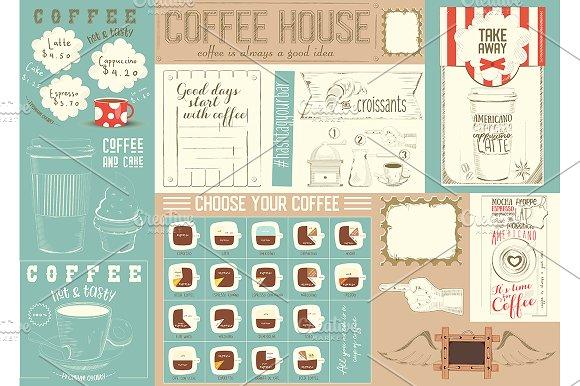Coffee Menu Placemat Template